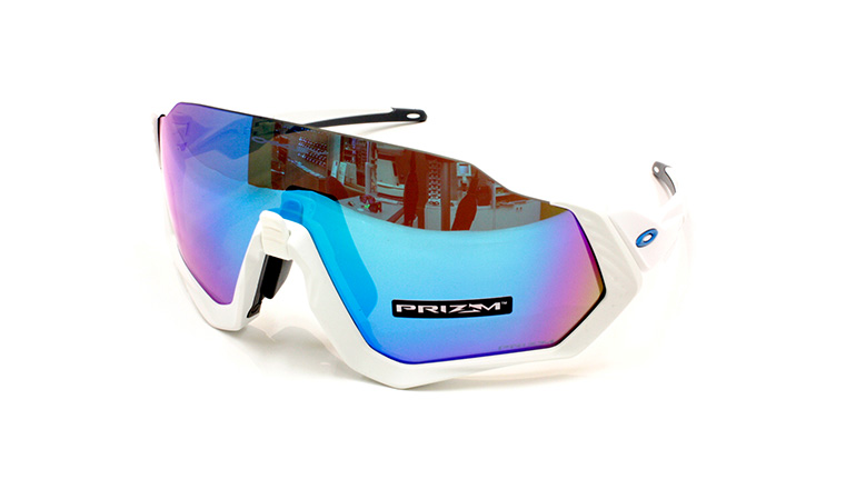 FLIGHT JACKET Polished White  Matte White/Prizm Sapphire OO9401-0237