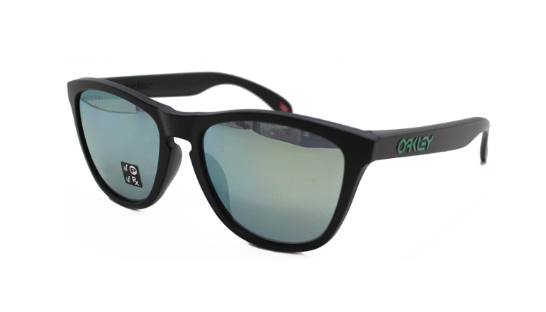 FROGSKINS MATTE BLACK/Emerald Iridium Polarized 924543