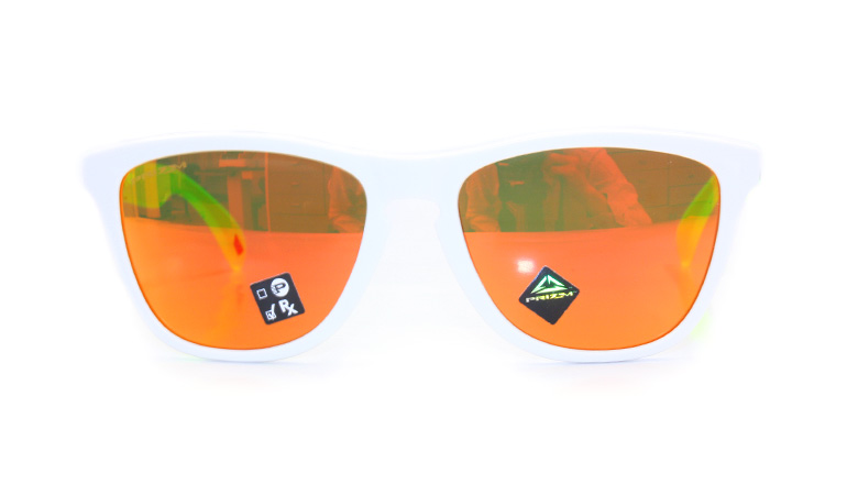FROGSKINS MATTE WHITE/UANIUM/Prizm Ruby 9245A1