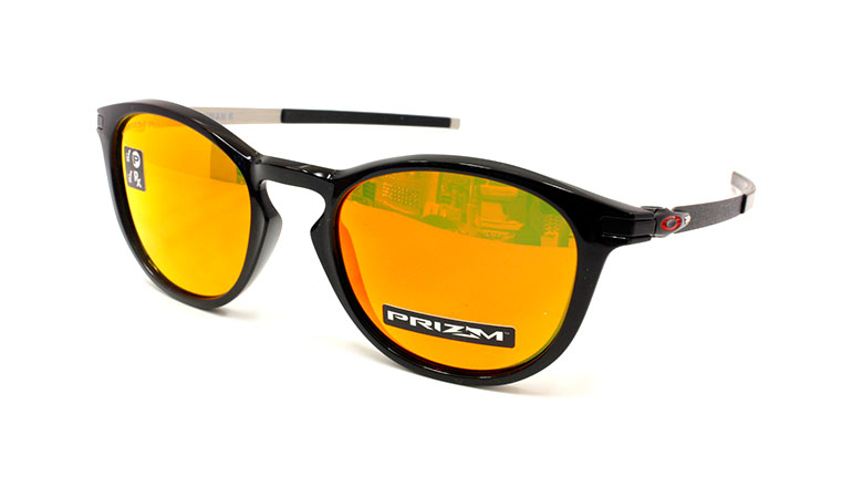 PITCHMAN R Polished Black/Prizm Ruby Polarized OO9439-0550